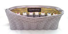 NEW Large Grey and Yellow Essential Oils Travel Case by SewNowWat, $25.99