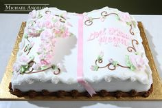 Bible Book with Pink Accents #102Religious by Michael Angelo's Bakery | Michael Angelo's Bakery