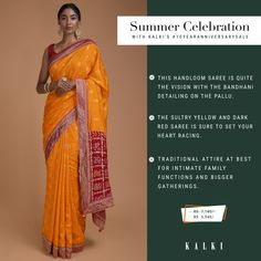Go all out with ethnic outfits or add a twist of fusion, this wardrobe makeover gives you endless possibilities to experiment with your ethnic looks for your upcoming summer weddings. To help you stock up for the season, we've created a must-have list of the prettiest traditional & contemporary sarees that can up your style game this sunny summer. Also, they are on amazing offers,  #10YearAnniversarySale   Sale Dates: 6th - 16th Feb Santacruz: SV, Next to Asha Parekh hospital Happy Shopping… Red Saree, Sari, Asha Parekh, Wardrobe Makeover, Ethnic Looks, Ethnic Outfits, Handloom Saree, Summer Weddings, Anniversary Sale