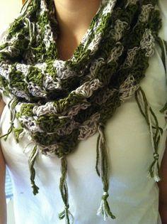 Sidewinder Crochet Scarf Pattern $