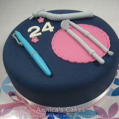 dentist cake/ tandarts taart