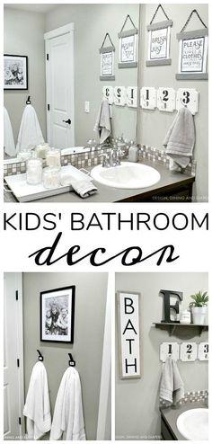 Farmhouse Kids Bathroom Decor