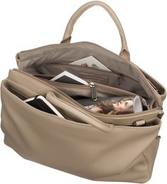 Mandarina Duck Mellow Leather Aktentasche - Simply Taupe Gym Bag, Taupe, Bags, Fashion, Handbags, Leather, Moda, Duffle Bags, Totes
