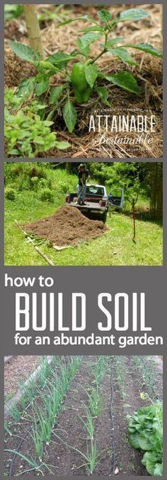 Build Good Garden Soil with Mulch