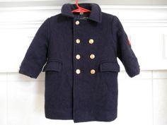 Boys Coat Military Style Vintage Fieldstone by ThePoshBabyShoppe