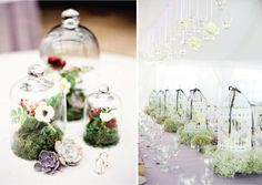 Whimsical wedding centerpieces