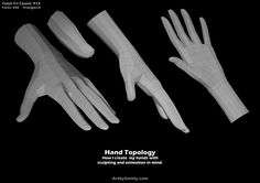 Hand topology. Prepared for sculpting and animation. (artist: Andrew Smith)