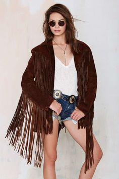 Vintage Call of the Wild Suede Fringe Jacket