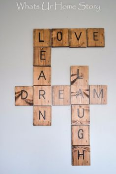 35 Wall Art Ideas for the Bedroom - DIY Scrabble Tiles - Rustic Decorating Projects For Bedroom, Brilliant Wall Art Projects, Creative Wall Art, Do It Yourself Crafts, Easy Wall Art, Bedroom Decor on a Budget, Bedroom http://diyjoy.com/wall-art-ideas-bedroom