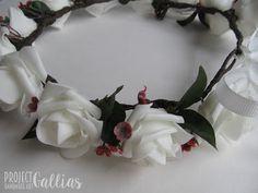 ProjectGallias: #projectgallias flower hair garland, wedding, communion, kwiatowy wianuszek na głowę, komunia, ślub, 100% handmade, rękodzieło