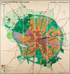 Urban expansion Eindhoven: situation J.M. de Casseres, 1930. NAI Collection, CASS 227-2