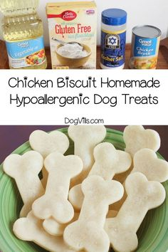 Looking for a super easy hypoallergenic dog treats recipe that you can make for Fido? Our chicken biscuits only have four gentle ingredients! Dog Grooming Shop, Dog Grooming Salons, Dog Grooming Business, Make Dog Food, Best Dog Food, Dog Treat Recipes, Dog Food Recipes, Hypoallergenic Dog Treats, Dog House Air Conditioner