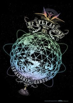 Spaceship Earth Art Print Global Consciousness Poster by TRILODEON