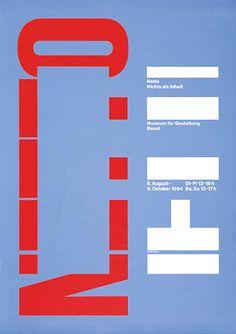 garadinervi: Georg Staehelin, Museum für Gestaltung Basel