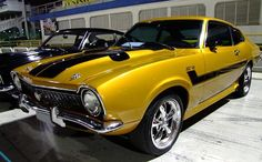 The Great Charm of Vintage Cars - Popular Vintage Ford Maverick, American Muscle Cars, Yellow Car, Automobile, Sweet Cars, Top Cars, Car Ford, Ford Motor Company, Amazing Cars