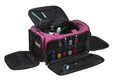 Seya Beauty Ultimate Makeup Artist Nail Polish Travel Bag Quilted Purple * Want additional info? Click on the image.