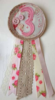 Shabby Chic Birthday Rosette - The Supermums Craft Fair