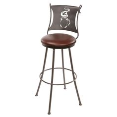 Interior: Varnished Heavy Duty Wrought Iron Bar Stools from Wrought Iron Bar Stools For Style Of The Bar
