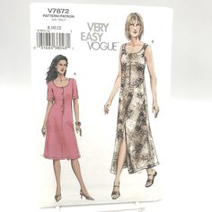 Size 16 Dresses, Cute Dresses, Loose Shorts, Vogue Sewing Patterns, Miss Dress, Scrub Pants, Tank Dress, Pleated Skirt, Plus Size