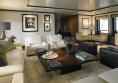 """This design by Todhunter Earle for yacht 'Twizzle My"""" is so glamorous you might not even know it was a yacht interior at first"""