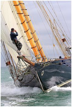 Sailing Yacht MARIETTE - photo by Chris Boynton - Classic sailing Yacht Tuiga wins overall in the Cowes Westward Cup Regatta 2010