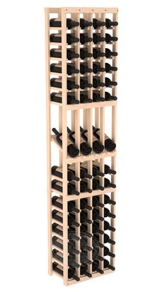 Wine Cellars by Coastal features the 4 Column 6.5 Ft Display Wine Rack Kit, which can come in Pine or Redwood wood species options..
