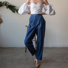 pleated woven trousers, 31W