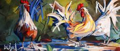 New arrivals in 2014 Great Paintings, Favorite Color, Rooster, Birds, Artwork, Animals, Roosters, Paint, Work Of Art