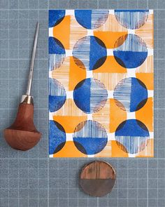 Today is all about tools and materials. The beauty of block printing is that you can start with very little tools and add on depending on your need over time. Stamp Printing, Printing On Fabric, Stamp Carving, Carving Tools, Clay Stamps, Art Folder, Handmade Stamps, Fabric Painting, Encaustic Painting