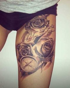 Inner Thigh Tattoos for Women | Previous Photo Next Photo