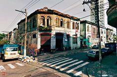 Old houses at Sao Paulo Street, Sao Paulo Brazil.