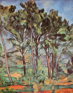 Paul Cézanne.  Viadukt. 1887, Öl auf Leinwand, 91 × 71 cm. St. Petersburg, Eremitage. Landschaftsmalerei. Frankreich. Postimpressionismus.  KO 01242
