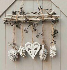 dezente selbstgemachte Dekoration für Weihnachten