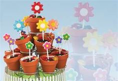 dirt pudding with cookie flowers