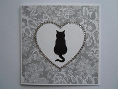 Handmade cat silhouette card - The Supermums Craft Fair