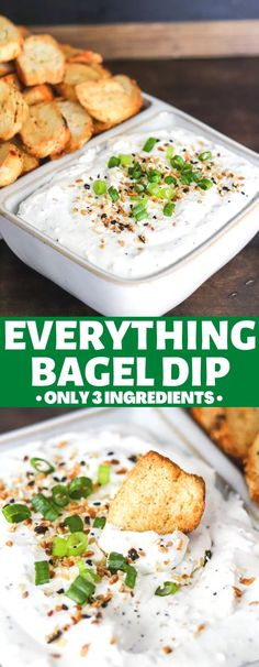 With only 3 ingredients this Everything Bagel Dip is a party favorite! Bursting with flavor, super delicious, and so quick and easy to make!