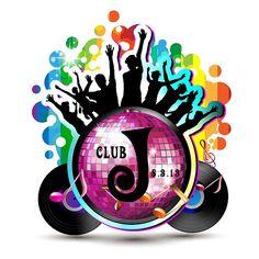 Disco Ball Dance Club Bat Mitzvah Logo, Dance Club Bat Mitzvah Logos, Gobos, Custom Personalized by Cutie Patootie Creations www.cutiepatootiecreations.com