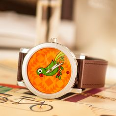 India Circus Brown Parrot Talk Watch