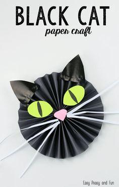 Black Cat Paper Craft - Easy Peasy and Fun