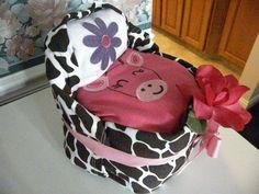Small Bassinet Diaper Cake Jungle Giraffe Theme by Rondasbabygifts, $22.00