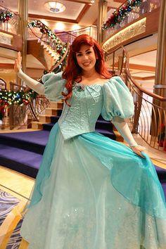 Disney Princess meet-and-greet, Disney Dream cruise ship Ariel Disney World, Disney Day, Disney Fairies, Disney Trips, Disney Dream Cruise Ship, Disney Cruise, Disney Parks, Pocket Princesses, Disney Princesses