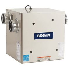 Broan Heat Recovery Ventilator: Keep your home heated and still enjoy fresh air! Designed for tightly sealed homes, the ventilator allows fresh air to enter your home without expelling heat. Available at http://www.homecontrols.com/manufacturers_list/NuToneFansDuctingAccessories