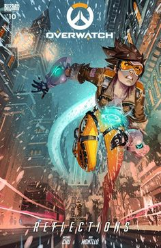 """Overwatch n°10 – Reflections (21.12.2016) // In """"Reflections,"""" the holidays have arrived at Overwatch, and everybody is heading home to spend time with the ones closest to them. Meanwhile, a massive snowstorm has turned King's Row into a winter wonderland, catching Tracer in the middle of an important mission, while at Watchpoint: Gibraltar, Winston contemplates the past year and the one to come.  #overwatch #comics #blizzard"""