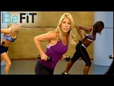 """Boot Camp Cardio & Strength Workout With Denise Austin will speed up your metabolism and tone your body through cardio and strength exercises that are specialized to blast away fat and calories.    This workout is from Denise Austin's DVD """"3 Week Boot Camp"""".    For full selection of great workouts like this one, go to the BeFit Channel on YouTube at..."""