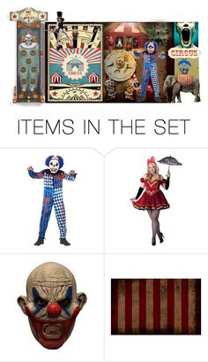 """""""Afraid of Creepy Clowns?"""" by funkyjunkygypsy ❤ liked on Polyvore featuring art"""
