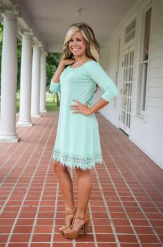 Pink Coconut Boutique | A Manhattan Love Story Tunic/Dress - Mint