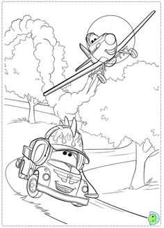 Dusty Practices Racing Every Day With His Friend Chug Print Out And Have Fun Coloring This Amazing Picture From The Upcoming Planes Disneys Film