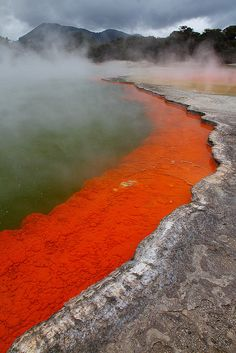 Waiotapo Thermal Scene, North Island, New Zealand by Gavin Emmons Places Around The World, Oh The Places You'll Go, Places To Travel, Places To Visit, Around The Worlds, New Zealand Adventure, New Zealand Travel, Adventure Hotel, Terre Nature