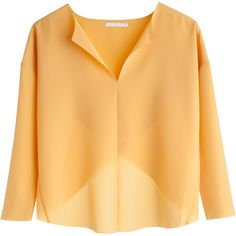 MTWTFSS Collection Fiona blouse - DD Yellow Reddish ❤ liked on Polyvore