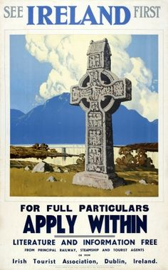See Ireland First Paul Henry, 1930s - original vintage poster by Paul Henry listed on AntikBar.co.uk